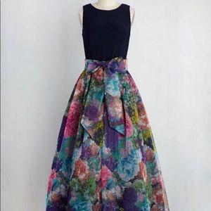 ModCloth Eliza J Party Prestige Floral Maxi Dress